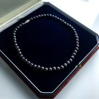 """HJ Pearl Collection Black Freshwater Pearl Strand (18"""")"""