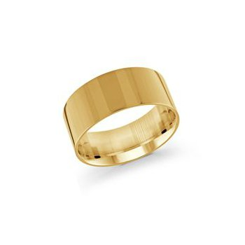 Pipe Cut Gold Band (10mm)