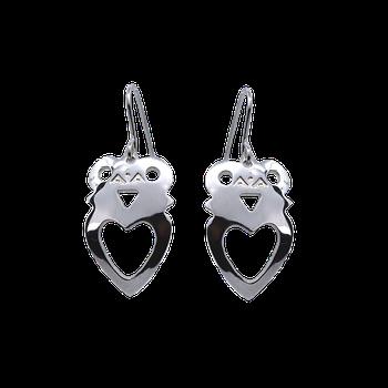 Crowned Heart Earrings