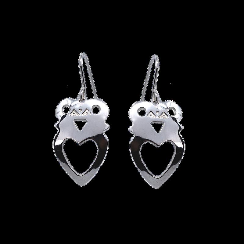 Sapling & Flint Crowned Heart Earrings