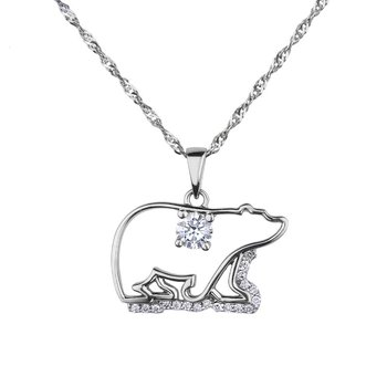 Polar Bear Canadian Diamond Necklace