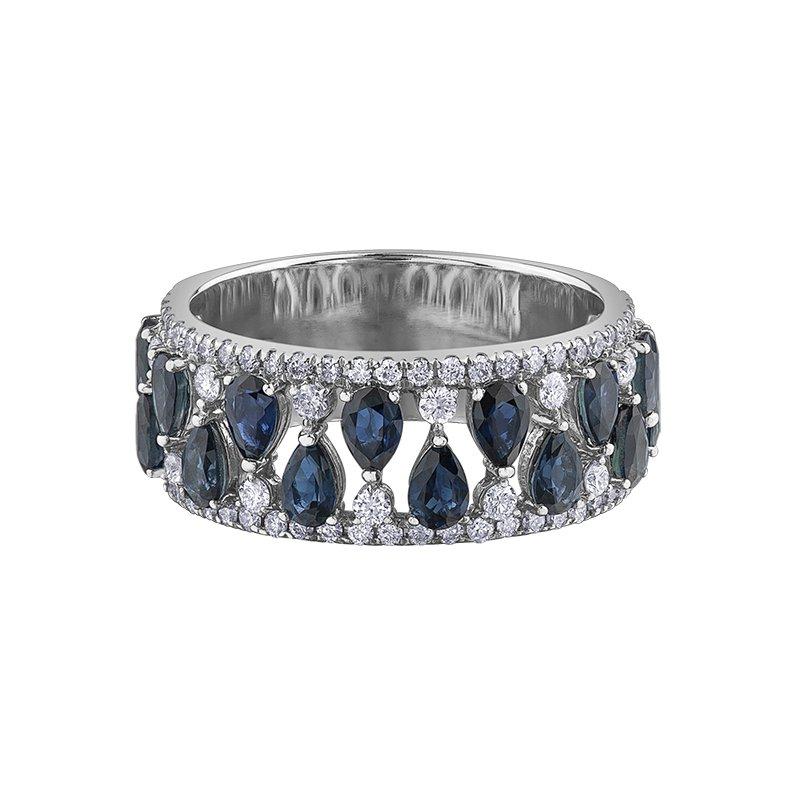 Corona Sapphire & Diamond Ring