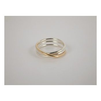 Two-Tone Eclipse Ring