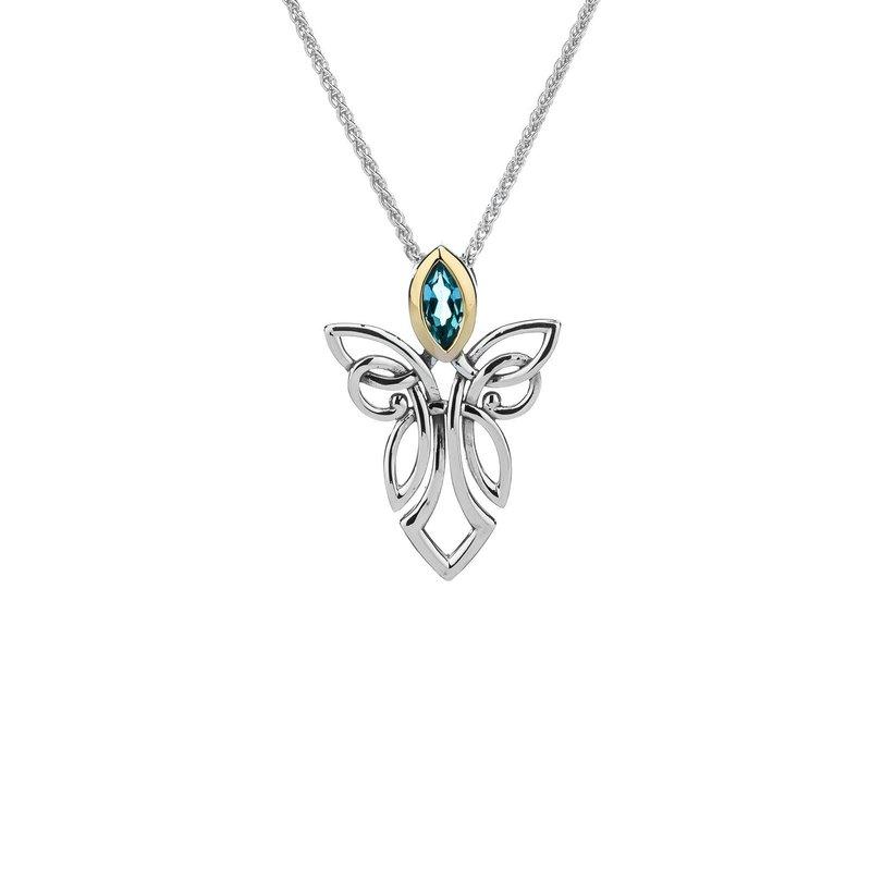 Keith Jack Guardian Angel Pendant (Blue Topaz)