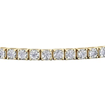 0.50CT TW Diamond Tennis Bracelet