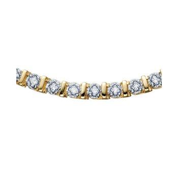 0.50CT TW Diamond Tennis Bracelet