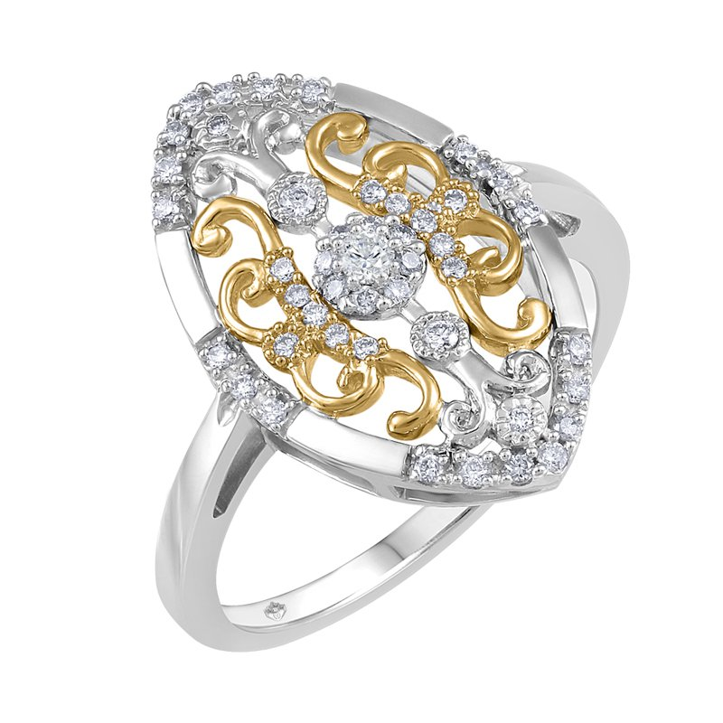 Fire and Ice Filigree Canadian Diamond Ring