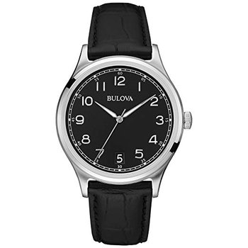 Bulova Men's Classic Black Leather Strap