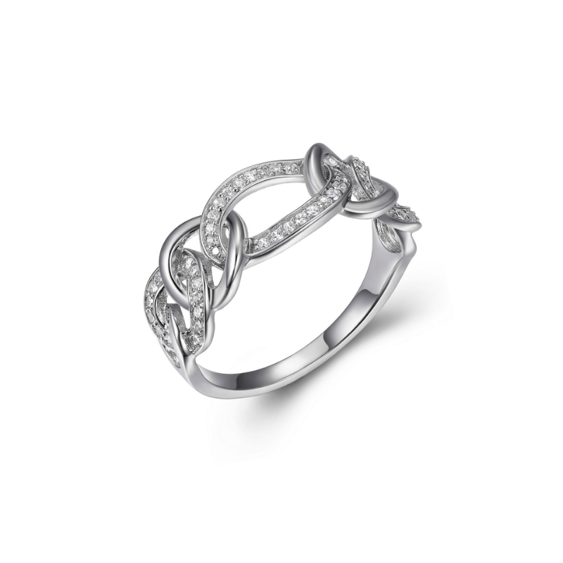 Reign Sterling Silver Link Ring