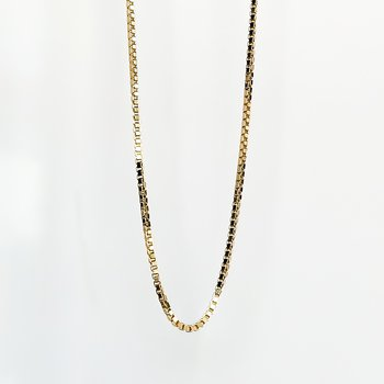 """Yellow Gold Box Link Chain (18"""")"""