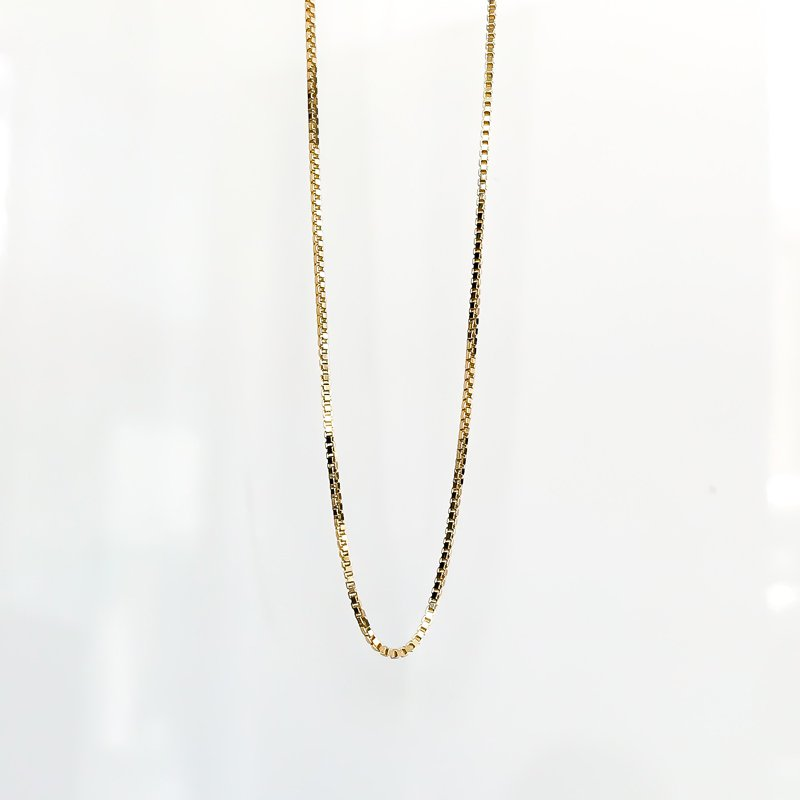 "Tecimer & Johns Yellow Gold Box Link Chain (18"")"