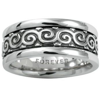 Celtic 'Coil' Wedding Band