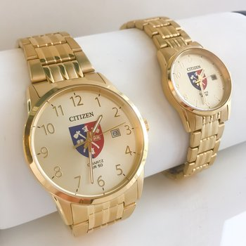 Yellow Gold Plated Acadia Crest Watch