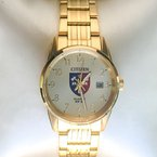 Acadia Jewellery Yellow Gold Plated Acadia Crest Watch