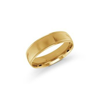 Gold Milgrain Band (6mm)