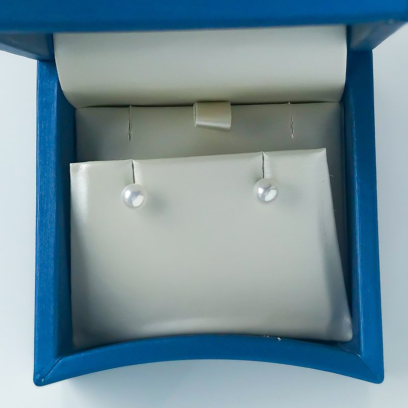 HJ Pearl Collection 14KW Freshwater Pearl Studs (5-5.5mm)