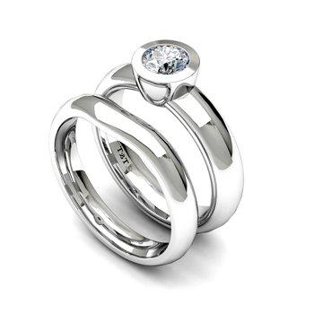 Bezel Set Solitaire Engagement Ring