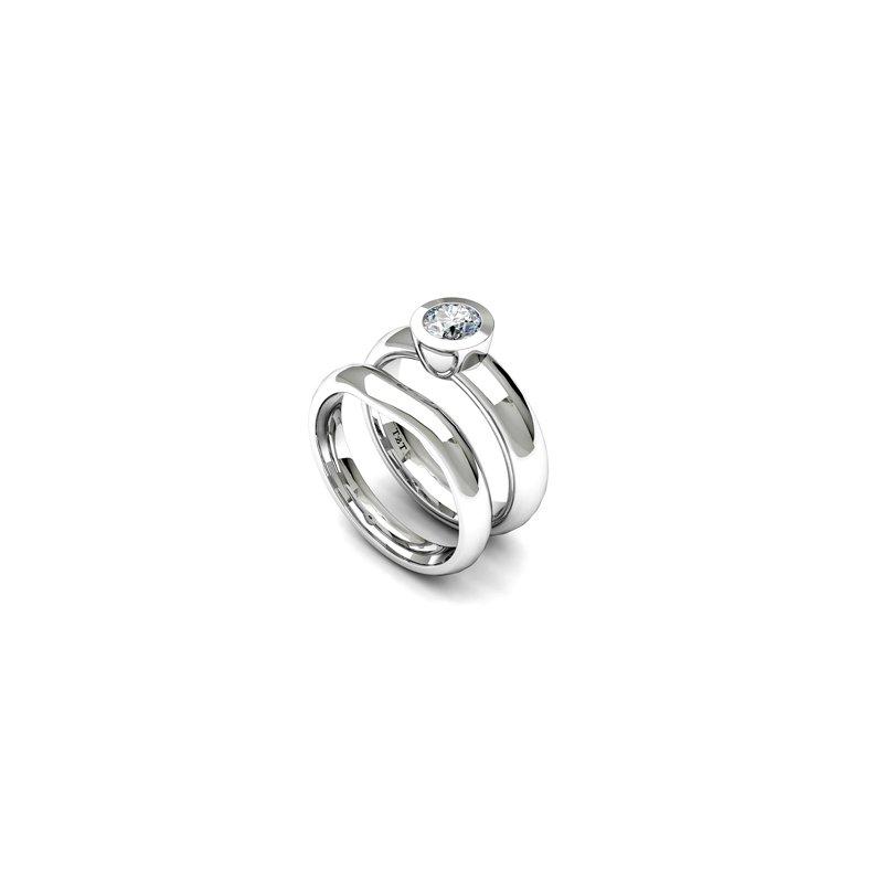 T & T Jewellers Bezel Set Solitaire Engagement Ring