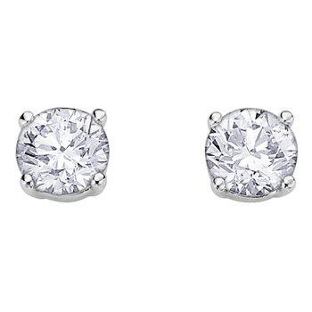 Canadian Diamond Stud Earrings