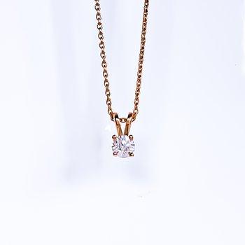 Rose Gold Diamond Necklace