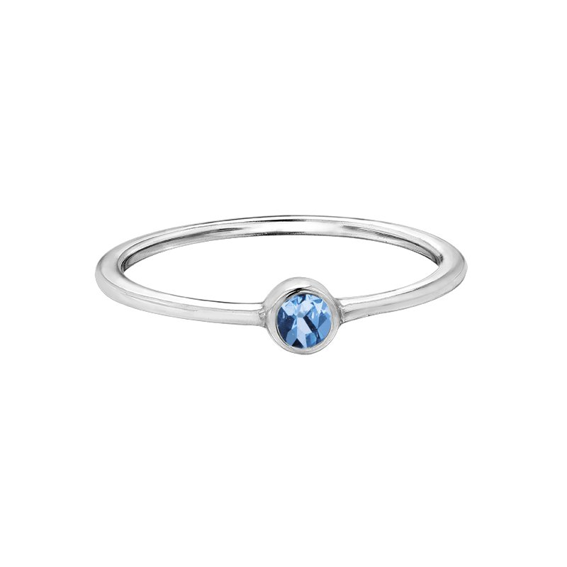 Corona Blue Topaz Stackable Ring