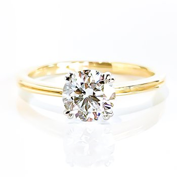 1.00CT Round Brilliant Lab Grown Solitaire Engagement Ring