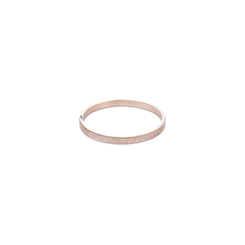 Coeur De Lion Pave Peach Crystal Bangle