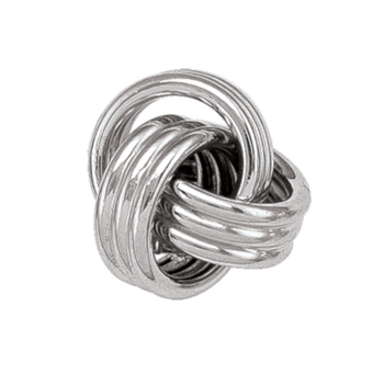 White Gold Love Knot Studs