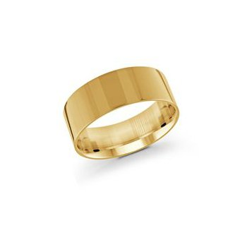 Pipe Cut Gold Band (9mm)