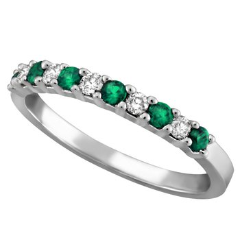 Forever Ice™ Emerald & Diamond Band