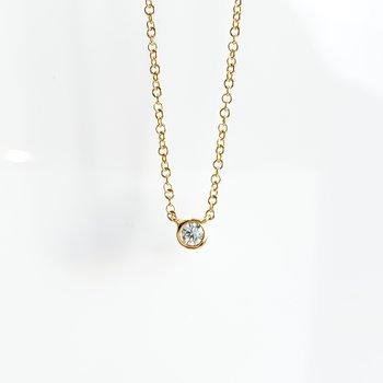 Yellow Gold Bezel Set Canadian Diamond Necklace