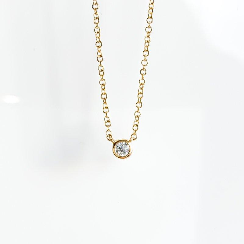 Corona Yellow Gold Bezel Set Canadian Diamond Necklace