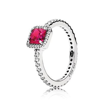 Timeless Elegance, Synthetic Ruby & Clear