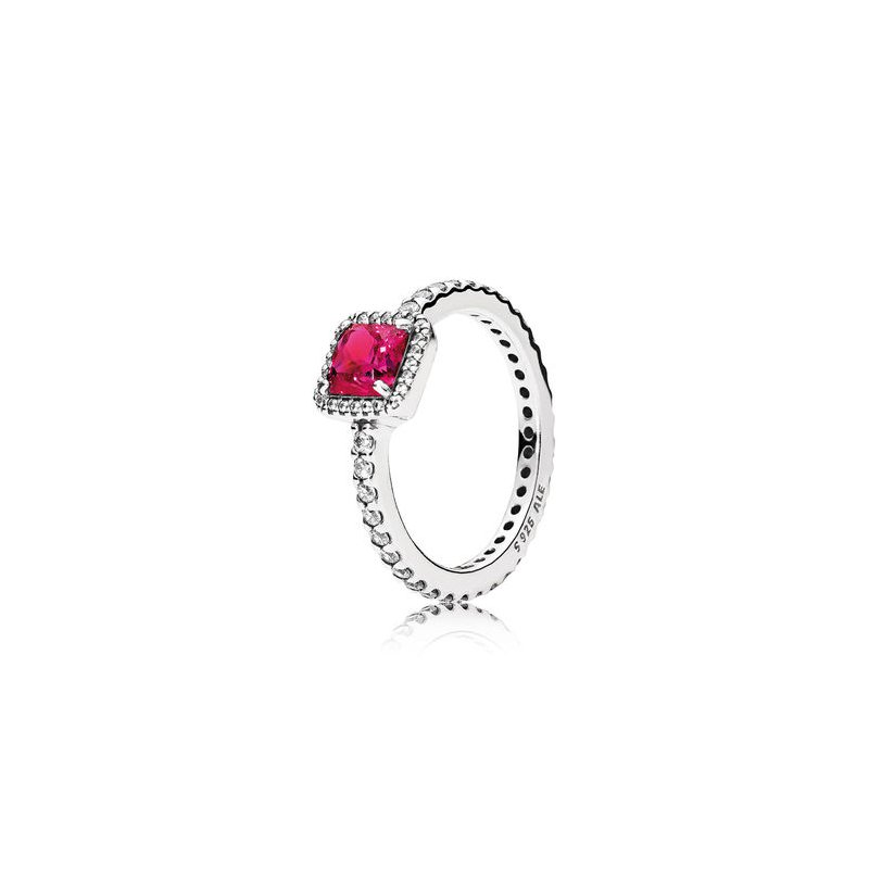 PANDORA Timeless Elegance, Synthetic Ruby & Clear