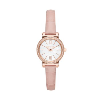 Michael Kors Women's Sofie Rose Gold-Tone and Blush Leather Watch