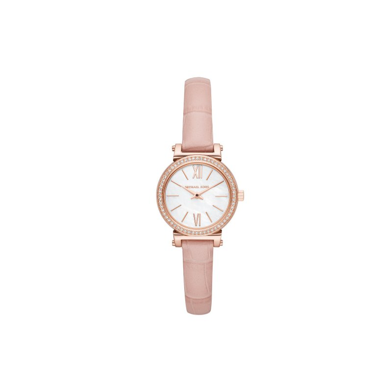 Michael Kors Michael Kors Women's Sofie Rose Gold-Tone and Blush Leather Watch