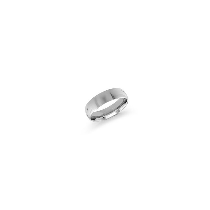 White 14 Karat 6 Mm Band