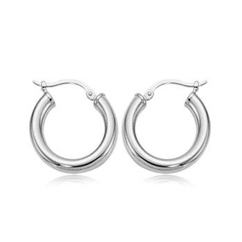 Sterling Silver Small Tube Hoops
