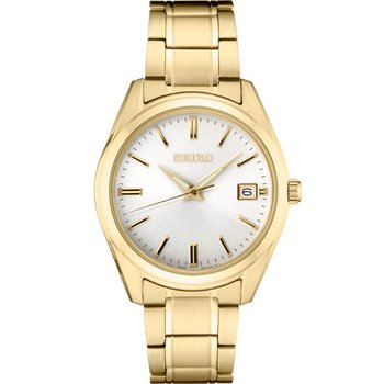 Yellow Stainless Steel Seiko Quartz Watch