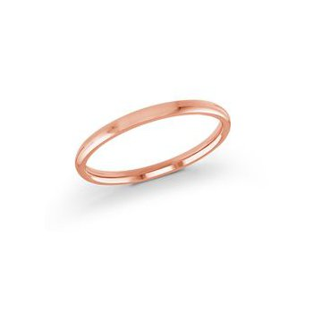 Rose' 14 Karat 2 Mm Band Size 7