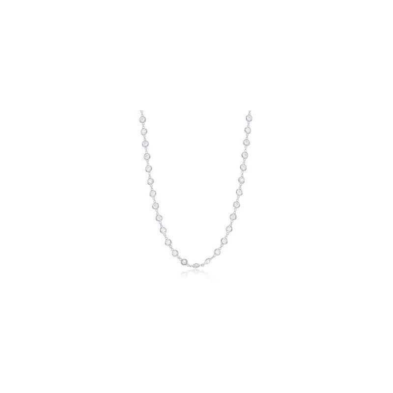 "36"" White 14 Karat Pendant With 115=7.16Tw Round G/H Si Diamonds Bezel Set chain length: 36"
