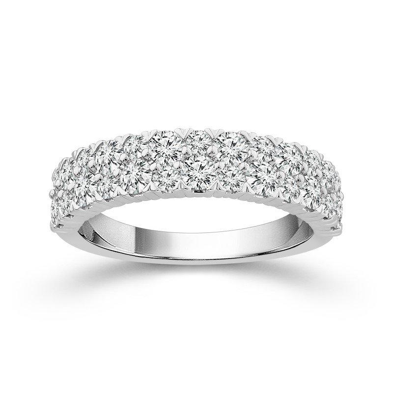 2 Rows of Dazzling Diamonds