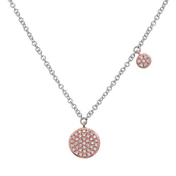 Fancy Pendant with 2 Rose Gold Diamond Pave Discs