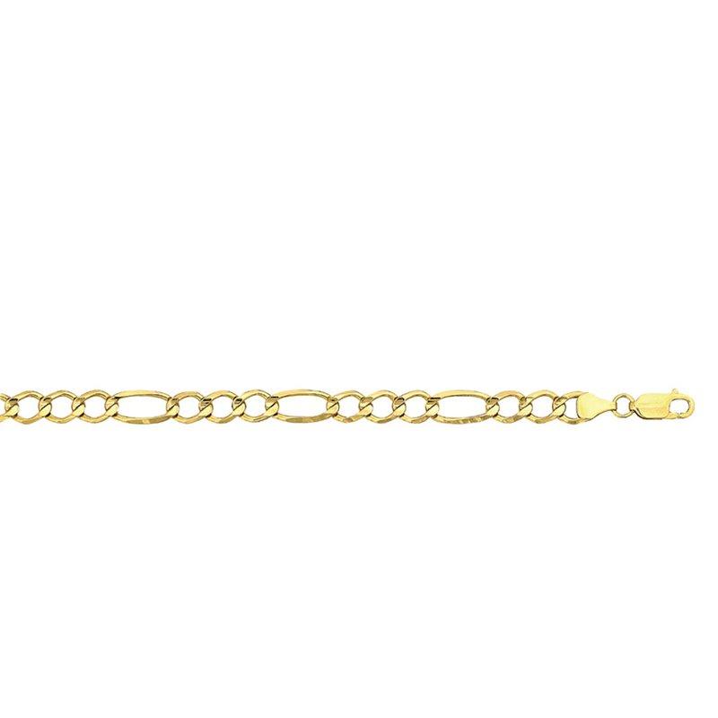 "10 Karat Figaro Bracelet 8""  Length"
