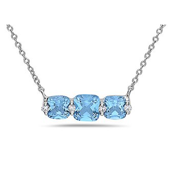 14 Kt Gold Pendant with Trio of Blue Topaz