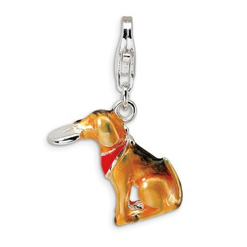 Sterling Silver Dog Charm