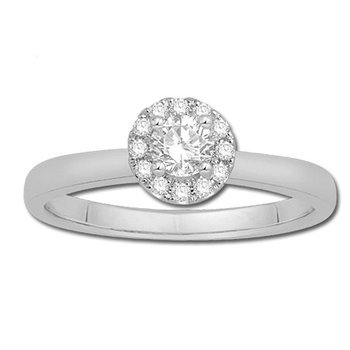 Serene Round Shaped Diamond set with a Halo of Round Diamonds