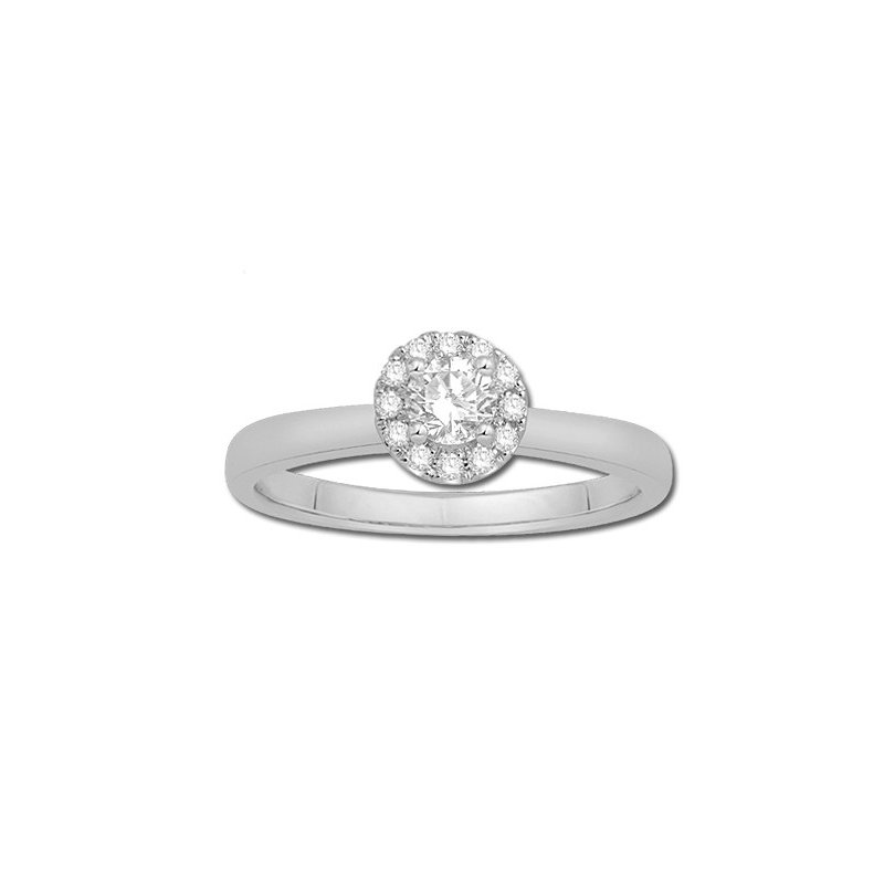 Serene Round Shaped Diamond set with a Halo of Round Diamonds