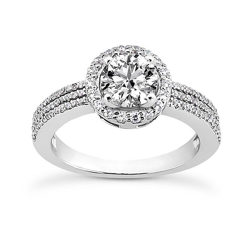 White 14 Karat Ring With 96 Round Diamonds=0.38Tw G/H Si