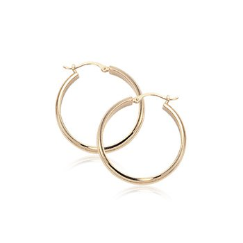 Yellow 14 Karat Small Hoop Earrings